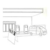 ガソリンスタンド店頭表示など使用例