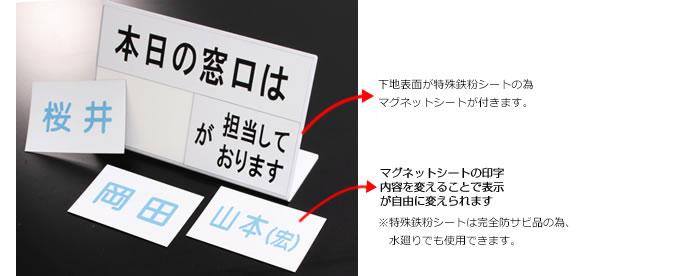 マグネットカウンターサイン使用例